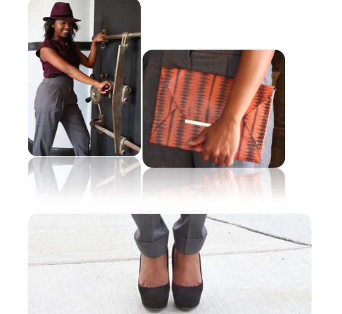 Unlocking great style!  Clutch: BCBG Shoes: Miu Miu