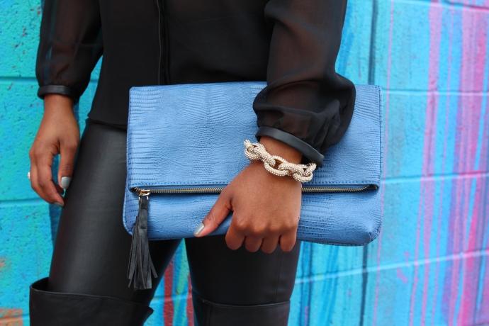 Bracelet: Nikita Chanel  Clutch: R + J  Handbags