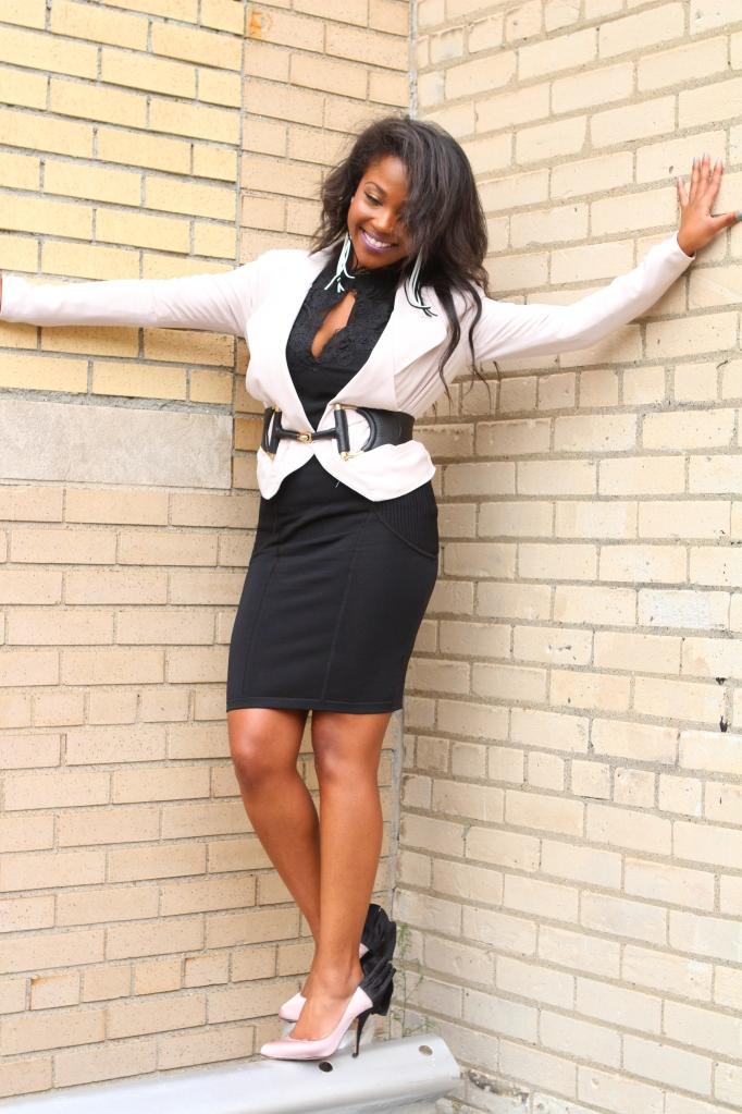 Belt: Gucci  Bandage Skirt: Karen Millen