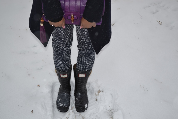 Purple Leather Clutch: Gucci