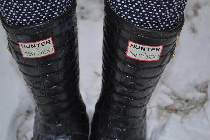 Rain Boots: Hunter Jimmy Choo