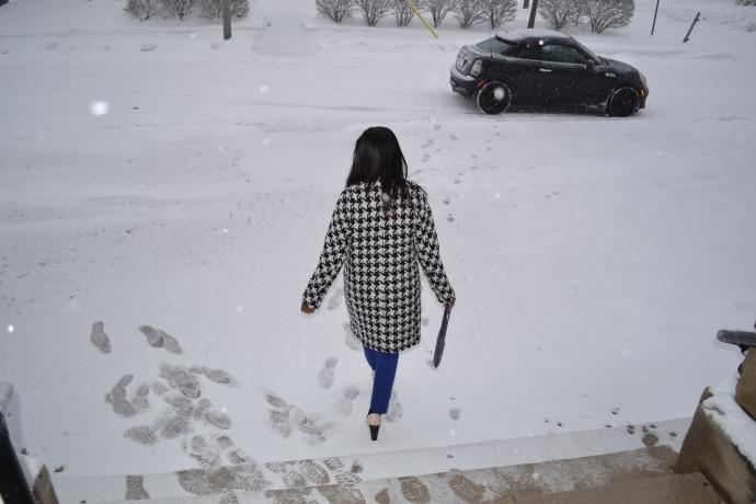 Time to head home!!! The Snow Fairy doesn't play fair!