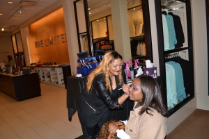 Arnita Parham the Make-Up Maven, made everyone beautiful that night!